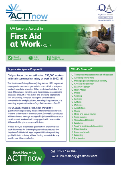 Blended First Aid training