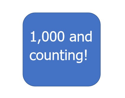 We've hit 1,000 followers!
