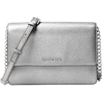 Large Gusset Crossbody Silver
