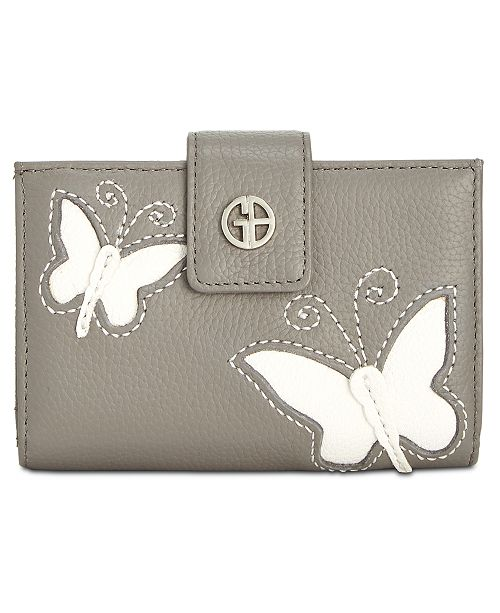 Leather Butterfly Framed Index GreyIvorySilver