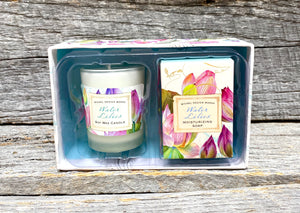 Michel Design Works Water Lilies Candle and Soap Gift Set
