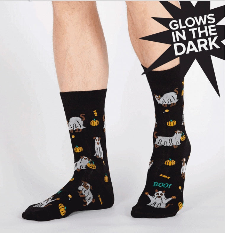 Trick or Treat Men's Crew Socks by Sock it to Me