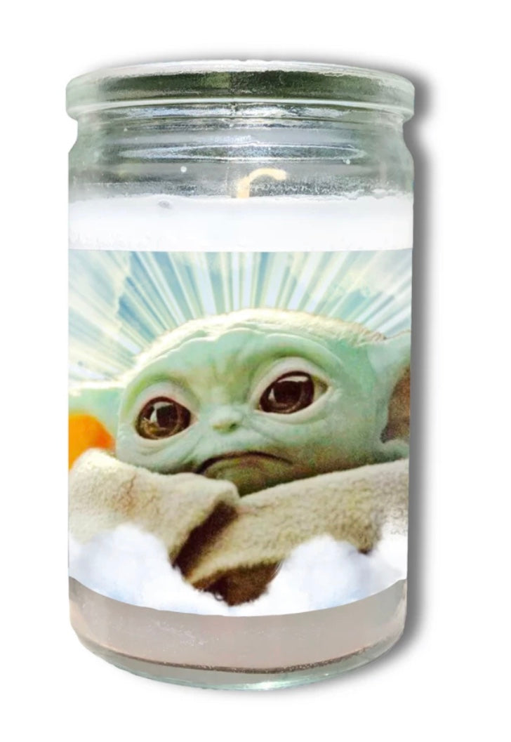Baby Yoda Prayer Candle