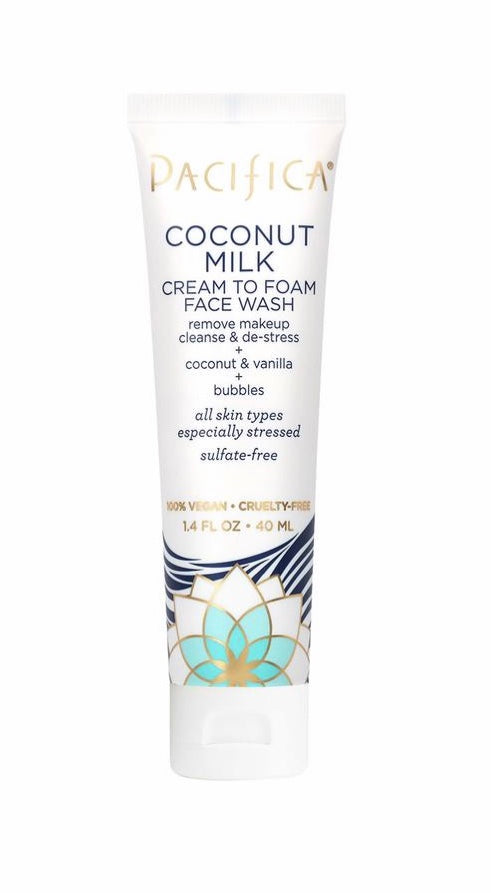 Pacifica Coconut Milk to Foam Face Wash Travel Size 1.4 oz