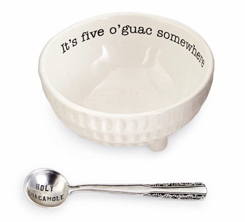 It's Five  o'Guac Somewhere Dip Cup and Spoon Set