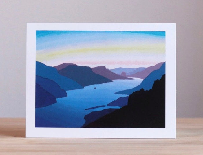 Crown Point to Hood River Greeting Card