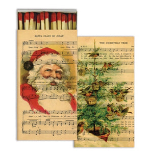 Vintage Santa With Sheet Music Long Matchbox