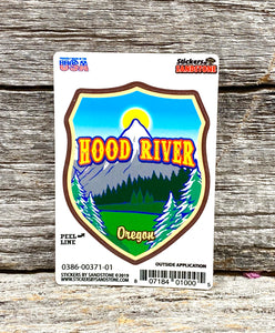Hood River, Oregon Mountains and Trees Sticker