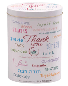 "Thank You ""Languages"" Vanilla  Fudge Tin"