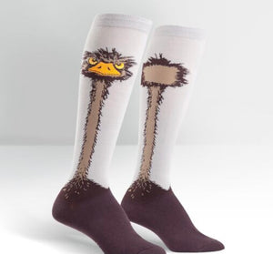 Ostrich Knee High Socks by Sock it to Me