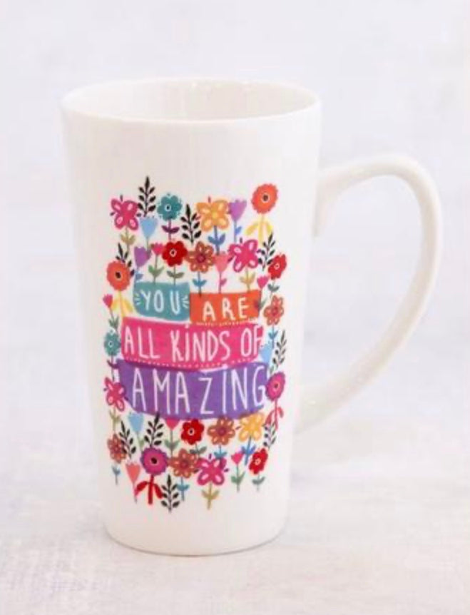 """You Are All Kinds of Amazing"" Latte Mug"