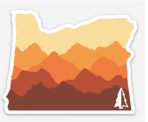 Oregon Sunset Sticker