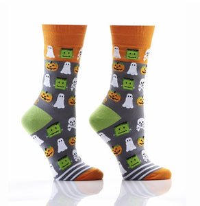 Goblins, Ghouls  and Ghosts Women's Crew Socks by Yo Sox