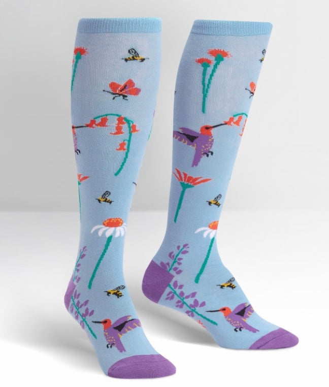 Flight of the Pollinators Women's Knee High Socks