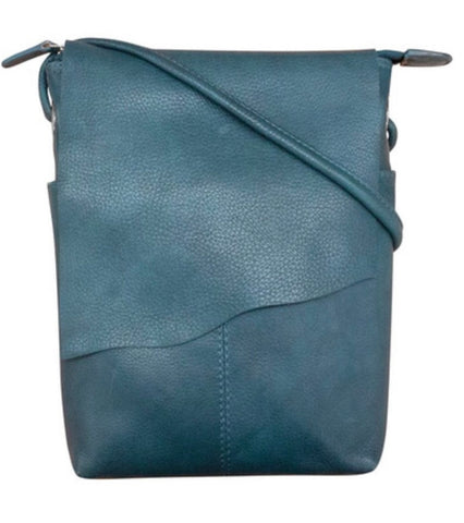 Leather Raw Edge Crossbody Mini Sac