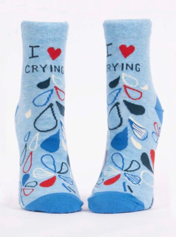 I HEART CRYING W-ANKLE SOCKS