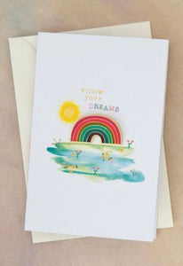 "Natural Life ""Follow Your Dreams"" Enamel Pin Card"