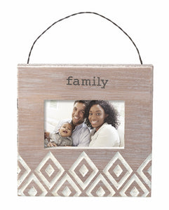 """FAMILY"" Hanging or Easel Picture Frame"