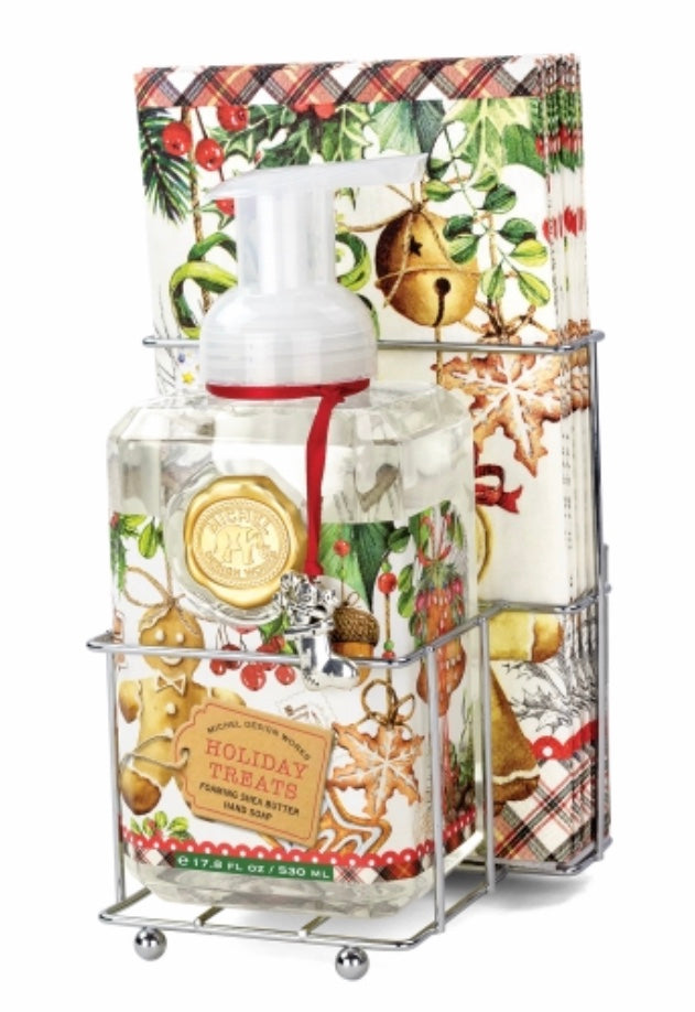 Michel  Design Works Holiday Treats Foaming Hand Soap & Napkin Set 40% OFF SALE