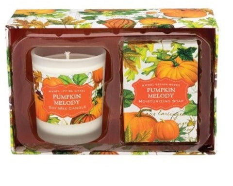 Michel Design Works Pumpkin Melody Soap and Candle Gift Set