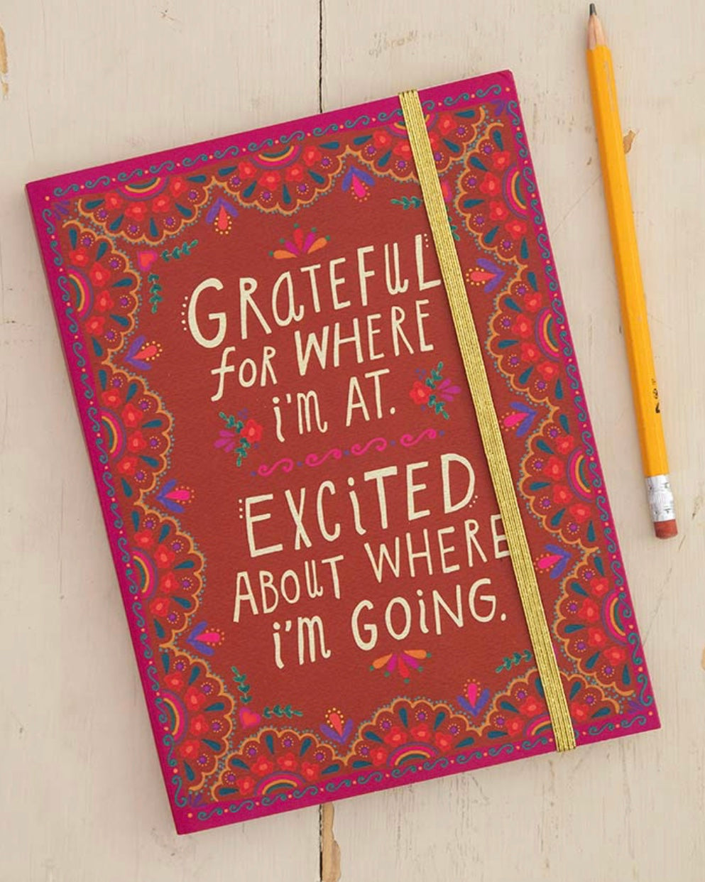 Natural Life Grateful Where I'm At Journal