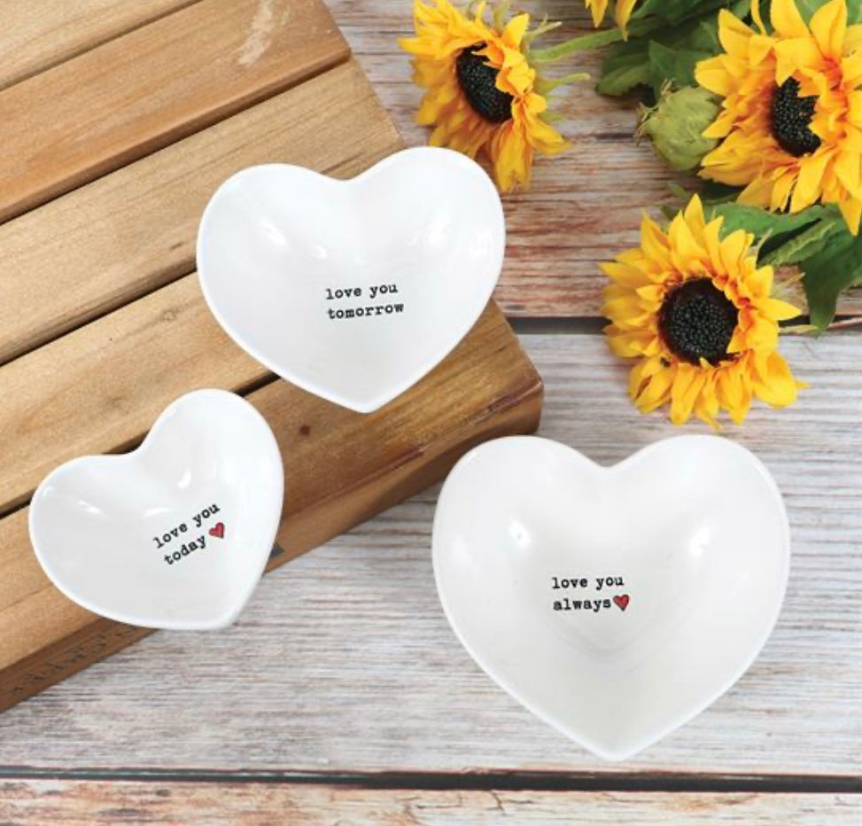 Love You Today Nested Bowl Set of 3