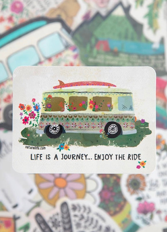 Life is a Journey, Enjoy the Ride Sticker