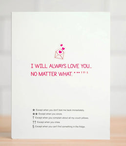 I Will Always Love You... Greeting Card