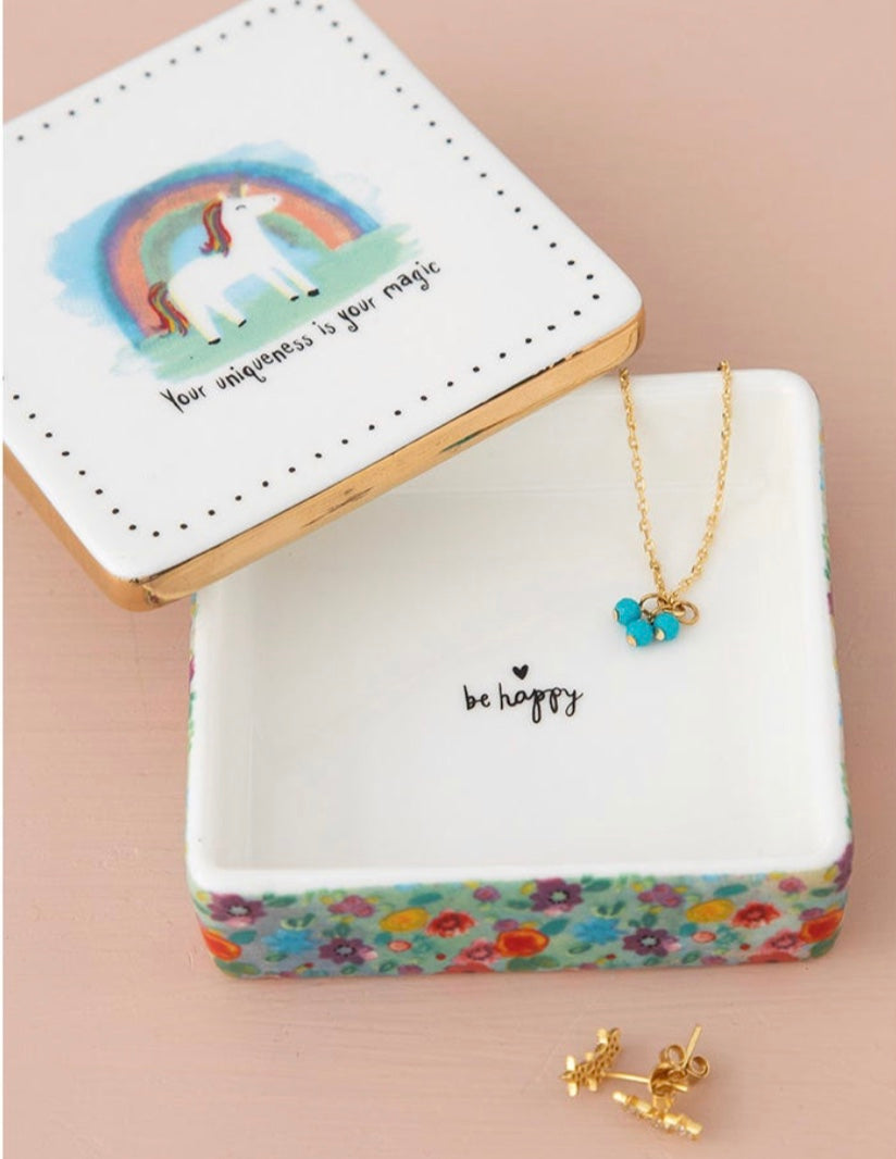 """Your Uniqueness is Your Magic"" Ceramic Trinket Box"