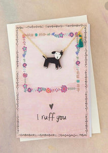 "Natural Life ""I Ruff You"" Necklace Card"