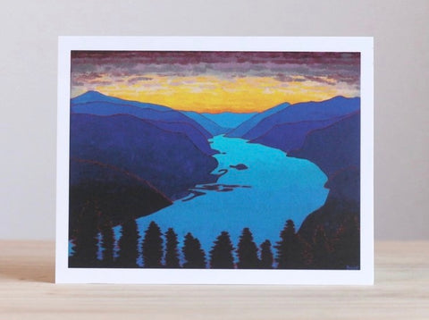 Sunset in the Columbine River Gorge Greeting Card