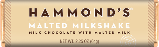 Hammond's Malted Milkshake Milk Chocolate with Malted Milk