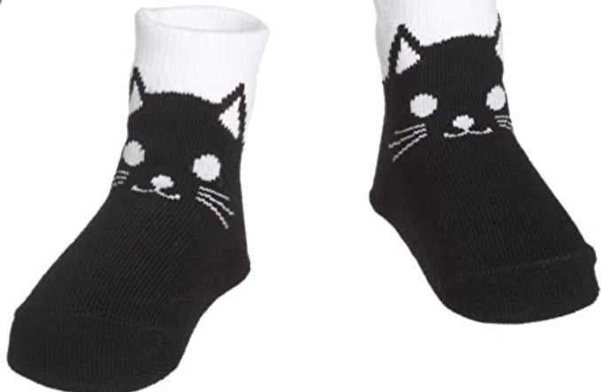 Black Kitty Baby Socks Age 0-12months