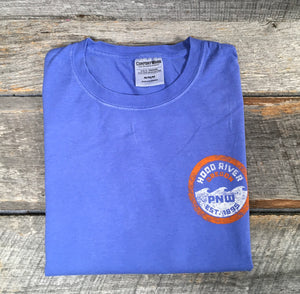 Men's Short Sleeve T Shirt Hood River, Oregon 1859 Periwinkle