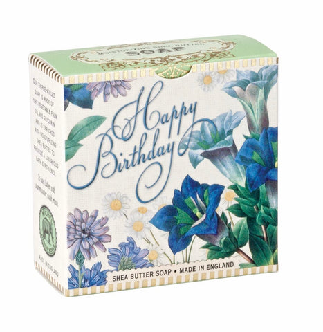 Michel Design Works A Little Soap Blue Happy Birthday