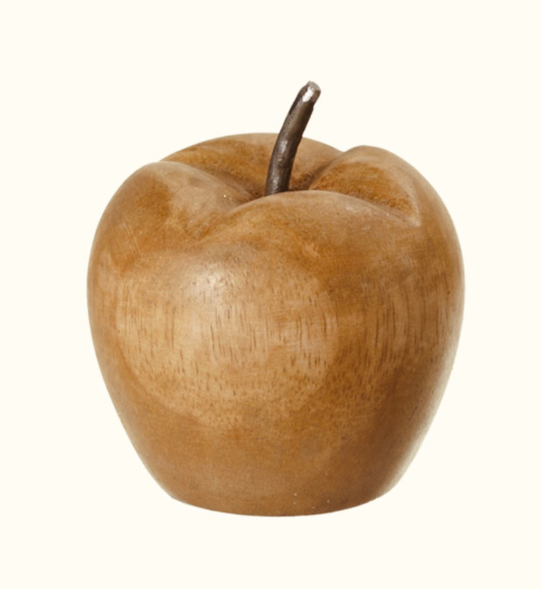 Carved Mango Wood Apple (small)