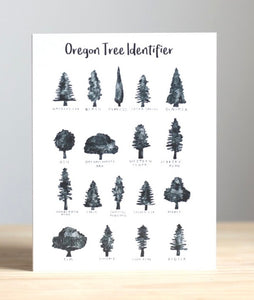 Oregon Tree Identifier Greeting Card