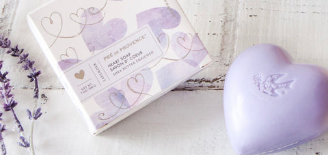 Lavender Heart Soap in Pretty Gift Box Pre de Provence