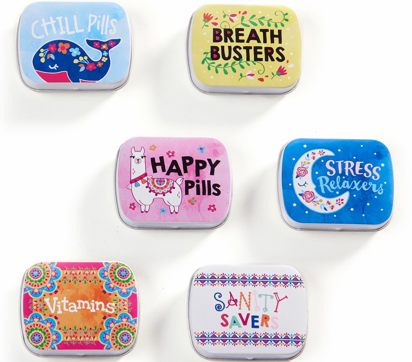 Fun Pill Boxes in 6 Designs