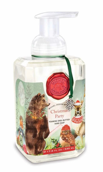 Michel Design Works Christmas Party Foaming Hand Soap and Napkins Set