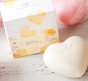 Camellia Heart  Soap  in Gift Box Pre de Provence