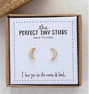 The Perfect Tiny Studs Moon Earrings Natural LIfe