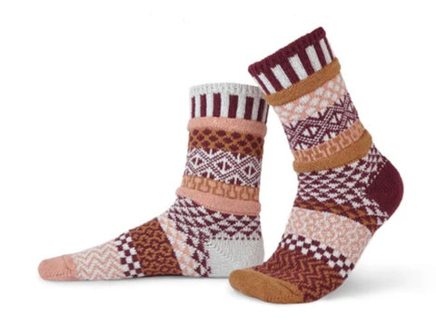 Amaranth Cozy Crew Socks Unisex
