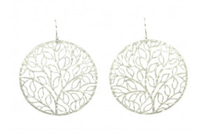 Hammered Tree of Life Earrings