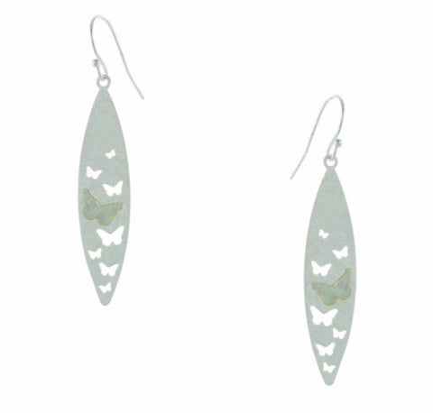 Butterflies with Mother of Pearl Inlay Earrings