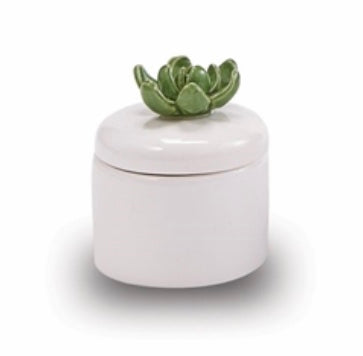 Deep Green Succulent Candle