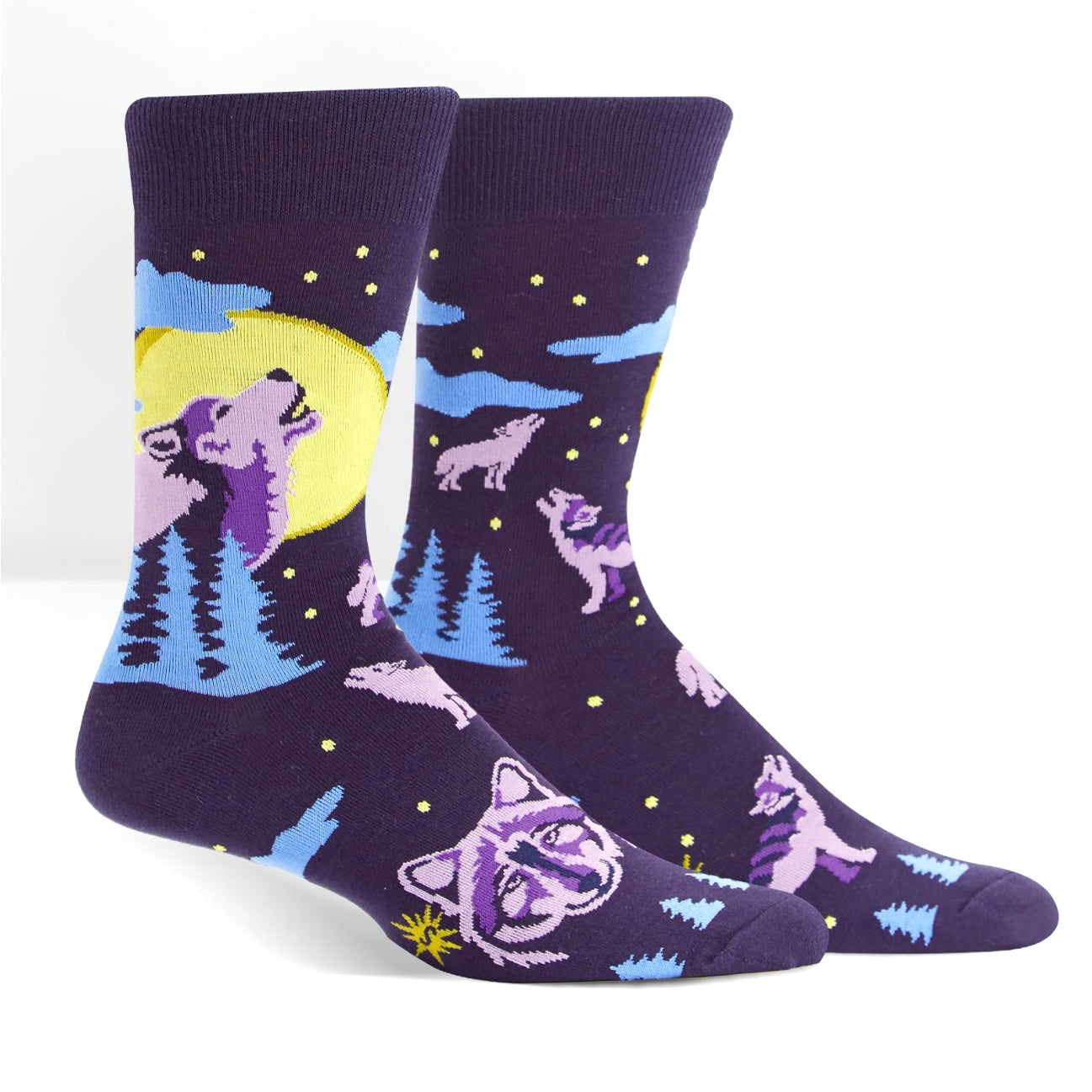 Six Wolf Moon Men's Crew Socks by Sock it to Me