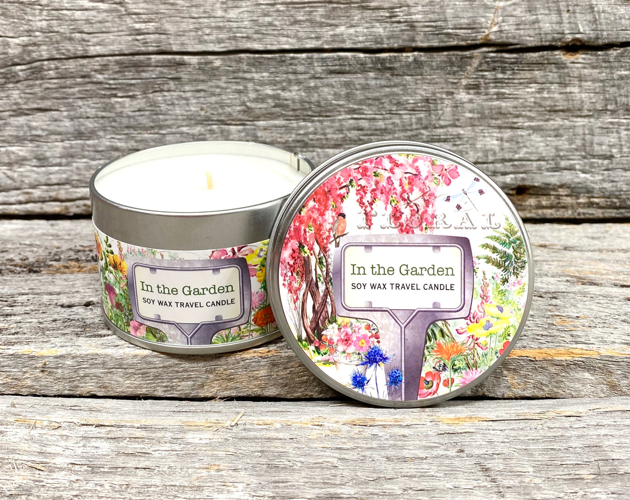 Michel Design Works In the Garden Soy Wax Travel Candle