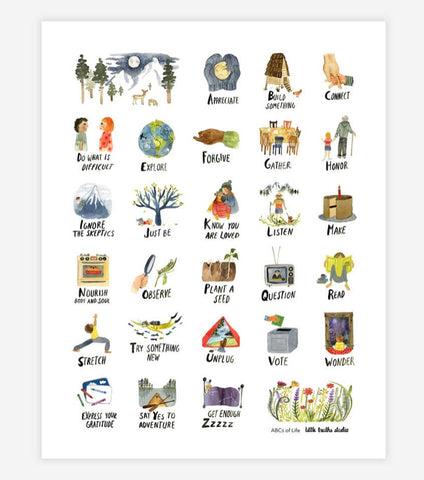 The ABC's of Life Print