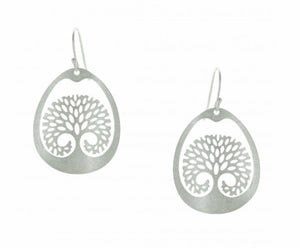 Hand Etched Tree of Life Earrrings